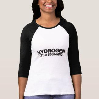 Hidrógeno - camiseta del raglán de la mujer
