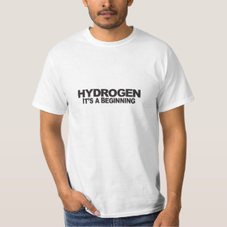 Hidrógeno - camiseta del valor