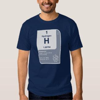 Hidrógeno (h) camiseta