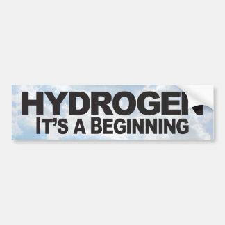Hidrógeno - pegatina para el parachoques pegatina para coche