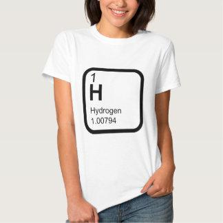 Hidrógeno - tabla periódica camisetas