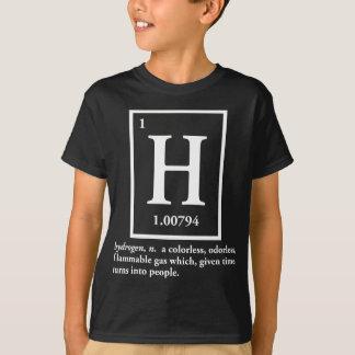hidrógeno - un gas que da vuelta en gente camiseta