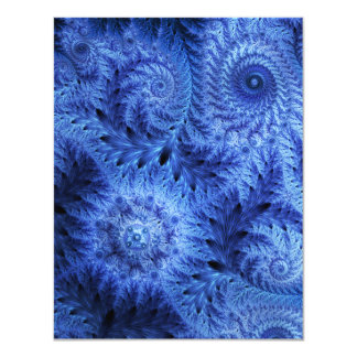 Hiele la helada, invitación azul del invierno, invitación 10,8 x 13,9 cm