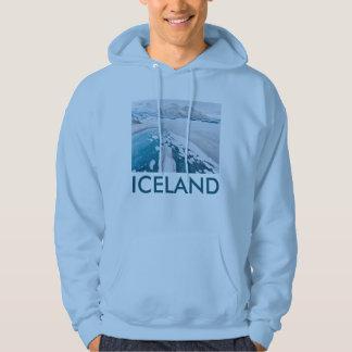 Hielo congelado del glaciar, Islandia Sudadera