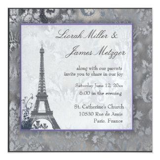 Hielo escocés del cardo de la torre Eiffel Invitación 13,3 Cm X 13,3cm