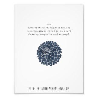 Hielo - poesía 8,5 x 11 imprimible arte fotografico
