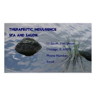 Hierba de la piedra y del agua en tarjeta de visit plantilla de tarjeta de visita