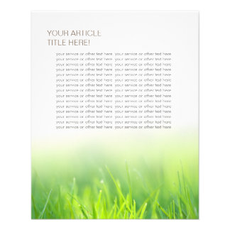 Hierba verde fresca elegante folleto 11,4 x 14,2 cm
