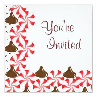 Hierbabuena del caramelo con la invitación de los