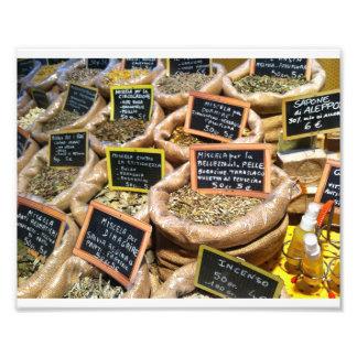 Hierbas y especias secadas cojinete