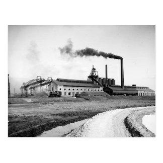 Hierro 1903 de Detroit y postal del acero