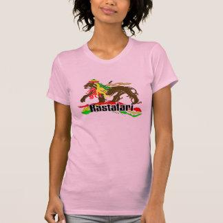 Hierro de Rasta del reggae, león, Zion 2 Camiseta
