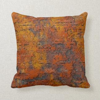 Hierro oxidado corroído cojín decorativo