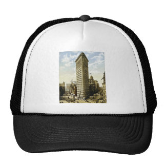 Hierro plano que construye New York City, vintage  Gorras