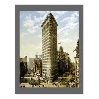 Hierro plano que construye New York City, vintage Postal