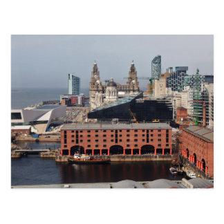 Hígado que construye Liverpool - postal