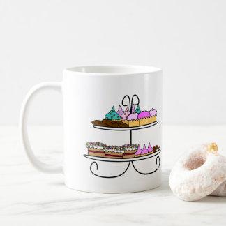High tea - Mok illustratie met cupcakes en koekjes Taza De Café
