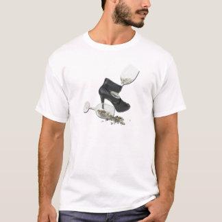 HighHeelShoesWineGlassStars010212 Camiseta