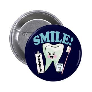 Higienista dental del dentista chapa redonda de 5 cm