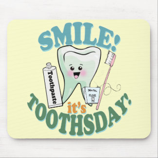 Higienista dental del dentista divertido alfombrilla de ratón