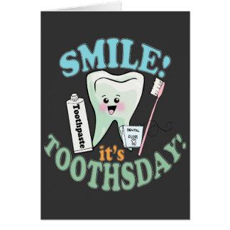 Higienista dental del dentista tarjeta de felicitación