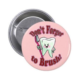 Higienista dental divertido chapa redonda de 5 cm