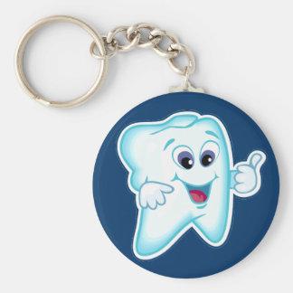 Higienista dental llavero redondo tipo chapa