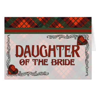 Hija de la invitación de la novia - tartán de Nico Tarjeta De Felicitación