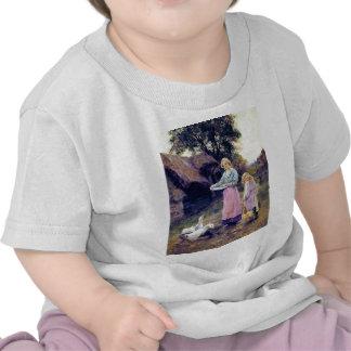 Hija de la madre de los pájaros de la granja de camiseta