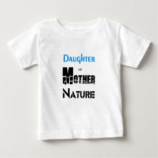 Hija de la madre naturaleza camiseta de bebé