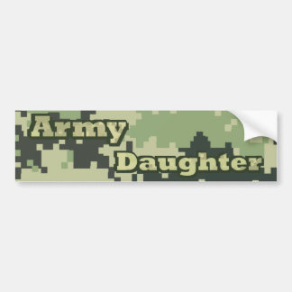 Hija del ejército pegatina para coche
