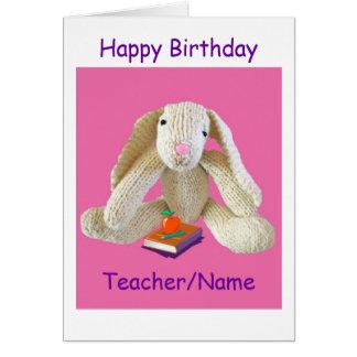 Hija del hijo de la tarjeta de cumpleaños del prof