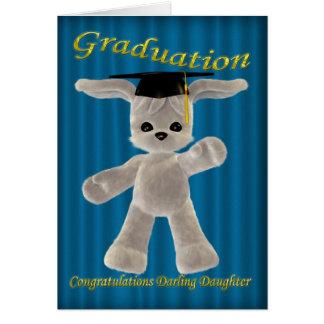Hija del querido de la graduación tarjeta de felicitación