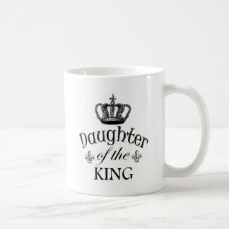 Hija del rey Quote Taza Básica Blanca