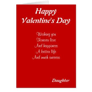 Hija el el día de San Valentín Tarjetón