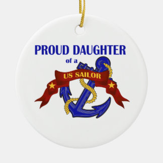 Hija orgullosa de un ornamento del marinero de los ornamento para reyes magos