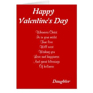 Hija religiosa del el día de San Valentín Felicitaciones