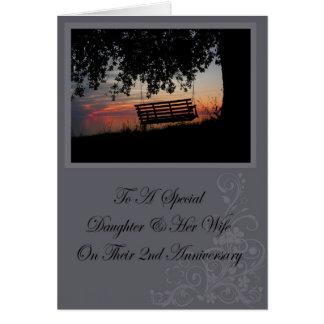 Hija y su 2da tarjeta del aniversario de la esposa