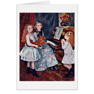 Hijas de Catulle Mendes de Pedro Renoir Tarjeta