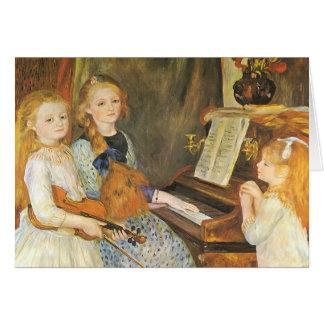 Hijas de Catulle Mendes de Pedro Renoir Tarjeta De Felicitación