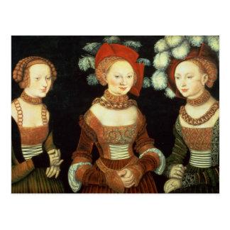 Hijas de duque Heinrich de Frommen Postal