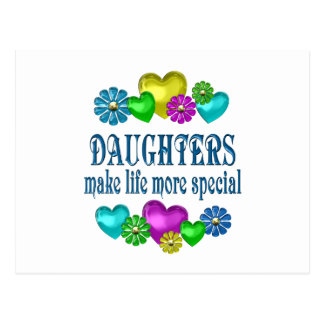 Hijas más especiales postal