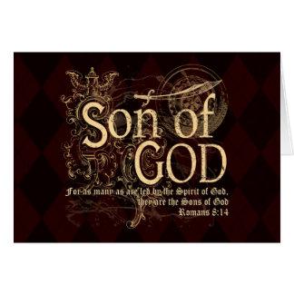 Hijo de dios, cristiano del 8:14 de los romanos tarjeta de felicitación