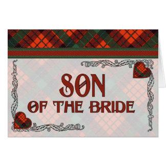 Hijo de la invitación de la novia - tartán de Nico Felicitación