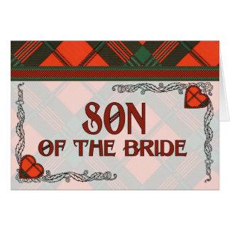 Hijo de la invitación de la novia - tartán de Scot Tarjetas