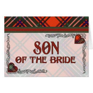 Hijo de la invitación de la novia - tartán de Seto Tarjeton