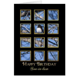 Hijo del cumpleaños - naturaleza tarjeta de felicitación