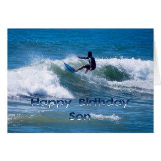 Hijo del feliz cumpleaños de la persona que tarjeta de felicitación