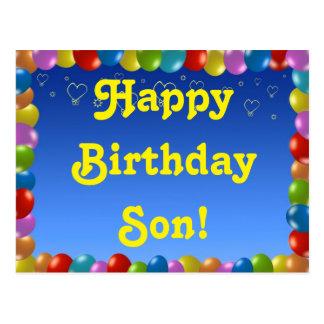 Hijo del feliz cumpleaños de la postal