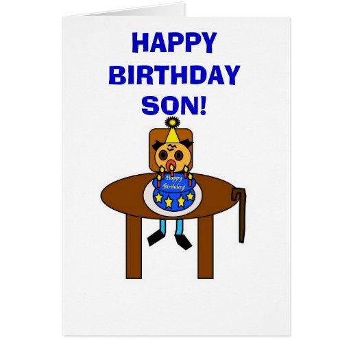 ¡Hijo del feliz cumpleaños! Tarjetón
